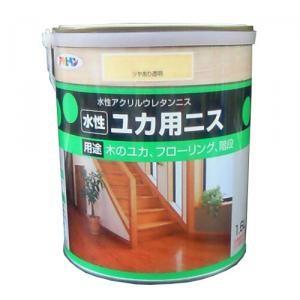 アサヒペン(Asahipen) 水性床用ニス ツヤあり透明 1.6L