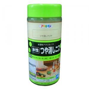 アサヒペン(Asahipen) 水性つやけしニス クリヤ 300ml