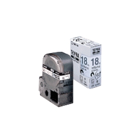「テプラ」PROテープ マグネットテープ 18mm白に黒文字