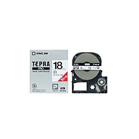 「テプラ」PROテープ ロング 18mm 白に黒文字