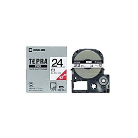 「テプラ」PROテープ ロング 24mm 白に黒文字