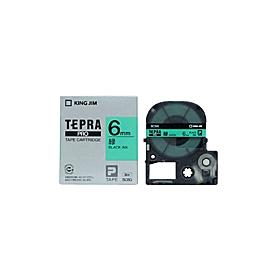「テプラ」PROテープ 6mm パステル緑に黒文字