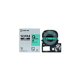 「テプラ」PROテープ 9mm パステル緑に黒文字
