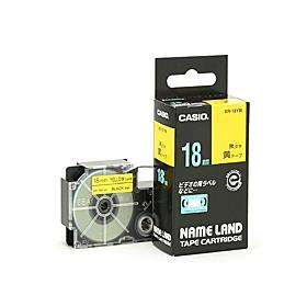 ネームランドテープ 18mm 黄に黒文字 320727
