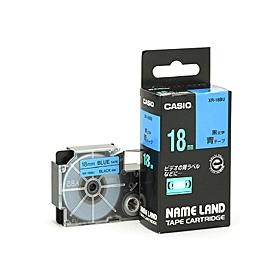 ネームランドテープ 18mm 青に黒文字 320720