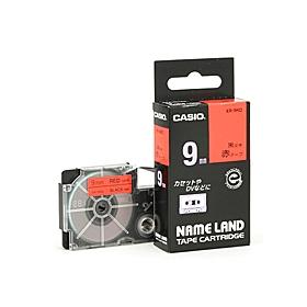 ネームランドテープ 9mm 赤に黒文字 320756