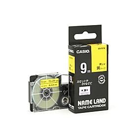 ネームランドテープ 9mm 黄に黒文字 320764