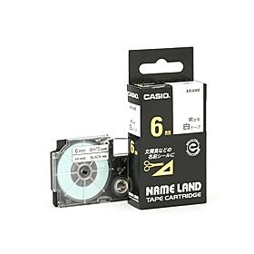 ネームランドテープ 6mm 白に黒文字 320743