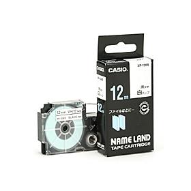 ネームランドテープ 12mm 白に黒文字 320717