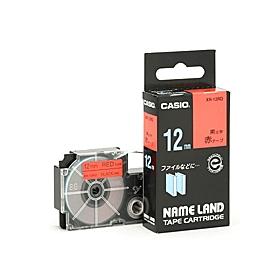 ネームランドテープ 12mm 赤に黒文字 320715
