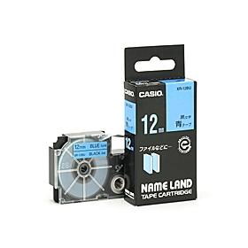 ネームランドテープ 12mm 青に黒文字 320712
