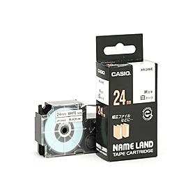 ネームランドテープ 24mm 白に黒文字 320731