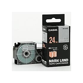 ネームランドテープ 24mm 透明に白文字