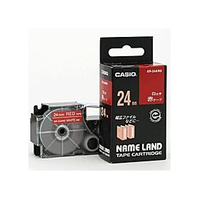 ネームランドテープ 24mm 赤に白文字 320181