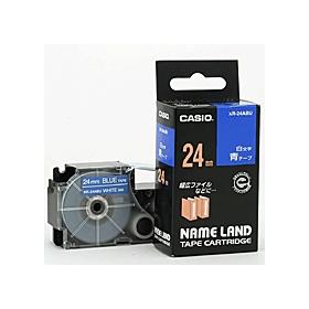 ネームランドテープ 24mm 青に白文字 320183