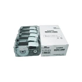ネームランドテープ 24mm 白に黒文字 5個 328713