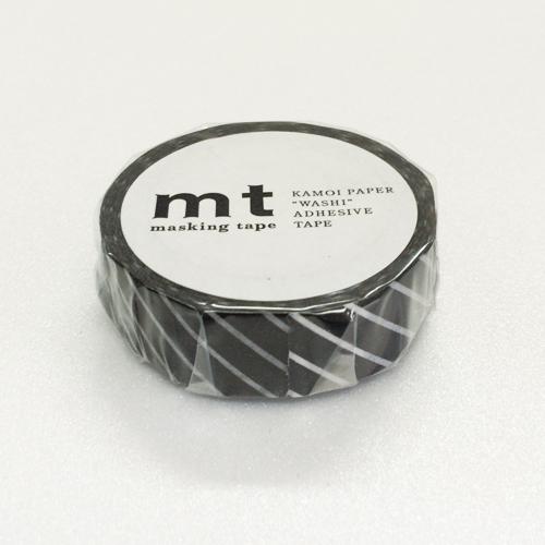 マスキングテープ mt MT01D153 ストライプ・ブラック