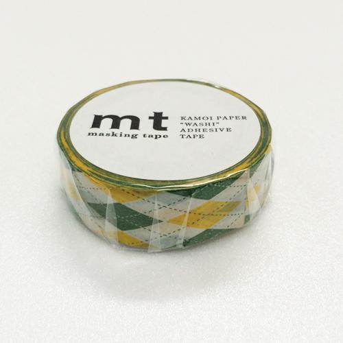 マスキングテープ mt MT01D163 アーガイル・グリーン