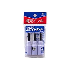 潤芯ホワイトボードマーカー 補充インキ 黒 3本入 360522