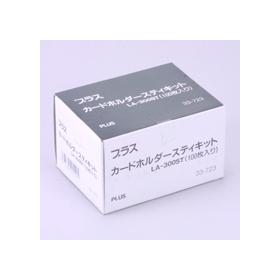 PLUS(プラス)  粘着剤付カードホルダースティキット NO.300 100枚 033723