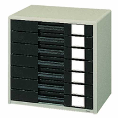 PLUS(プラス)  レターケース A4横 7段 LC−207H エルグレー 220930