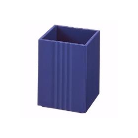 PLUS(プラス)  ペンスタンド小 幅70×奥行70×高さ95mm ブルー 015211