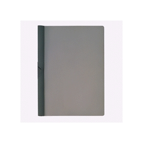 PLUS(プラス)  スライドクリップファイル A4縦 20枚収容 ダークグレー 422631