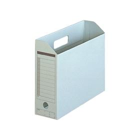 PLUS(プラス)  ボックスファイル(カード紙製) A4横 ブルー 1個 078080