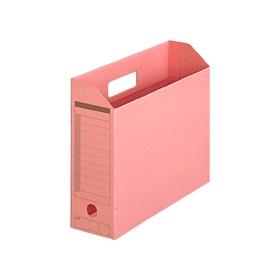 PLUS(プラス)  ボックスファイル(カード紙製) A4横 ピンク 1個 078083
