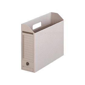 PLUS(プラス)  ボックスファイル(カード紙製) A4横 グレー 1個 078084