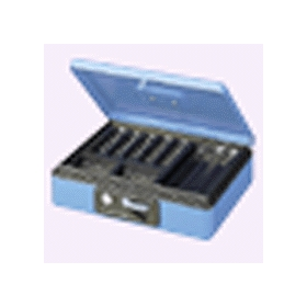 PLUS(プラス)  小型手提金庫 B5 CB−040G ブルー 013127
