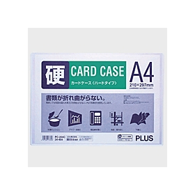 PLUS(プラス)  カードケースハードタイプ(白枠) A4 PC−204C 034464
