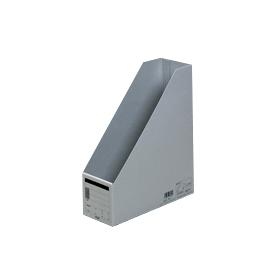 PLUS(プラス)  ボックスファイル A4縦 FL−052BF グレー 302816