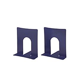 PLUS(プラス)  ブックエンド幅広タイプ BS−102 ブルー 1組2個 326810