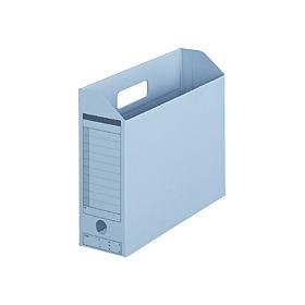 PLUS(プラス)  ボックスファイル(カード紙製) A4横 ロイヤルブルー 1個 306054