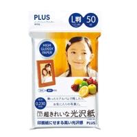 PLUS(プラス)  超きれいな光沢紙 L判 IT−050L−GC 50枚 391718