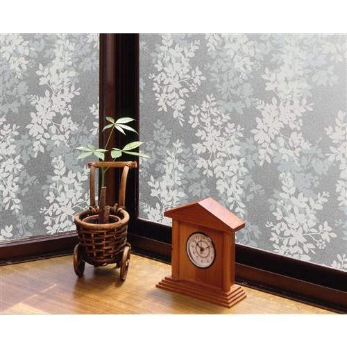 明和グラビア 窓飾り GDP-9231ホワイトリーフ 約92×90cm