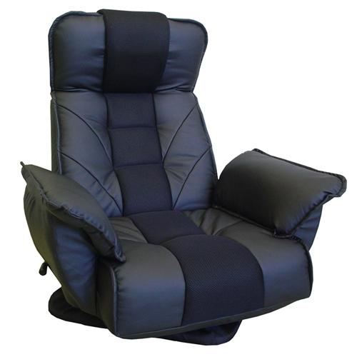 TVが見易いレバー式回転座椅子 FRL−アクロス ブラック
