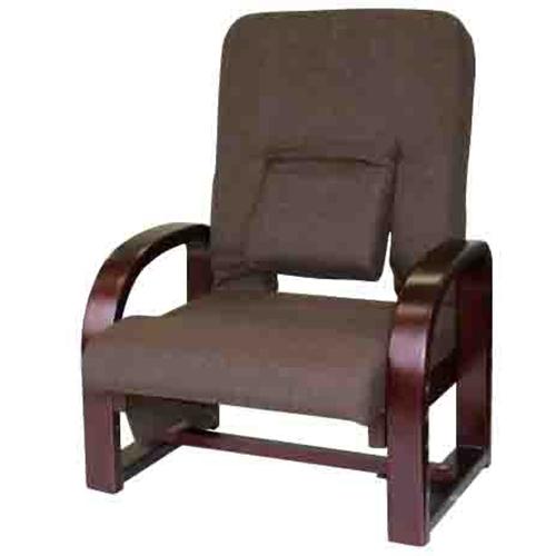腰サポートまごころ座椅子DX NUZ−アスカ ダークブラウン