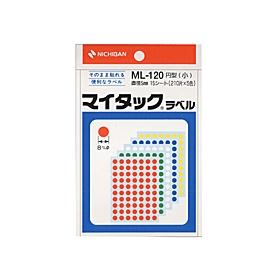 マイタックカラーラベル一般用裏面粘着剤付 5色混色ML120
