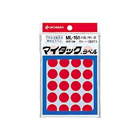 マイタックカラーラベル/赤/ML−1611 15シート