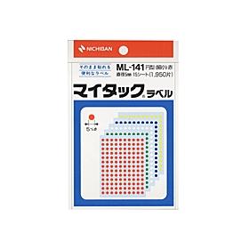 マイタックカラーラベル一般用裏面粘着剤付 5色混色ML141