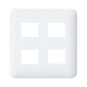 パナソニック(Panasonic) コスモシリーズワイド21 コンセントプレートラウンド2連用(4個用/2個+2個用)ホワイト WTF7004W