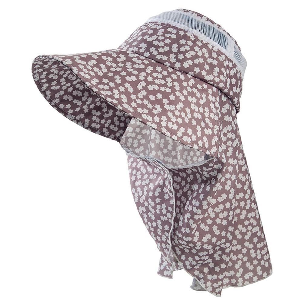 ユニワールド 防蚊農園帽オリビア フラワーグレー NS-127