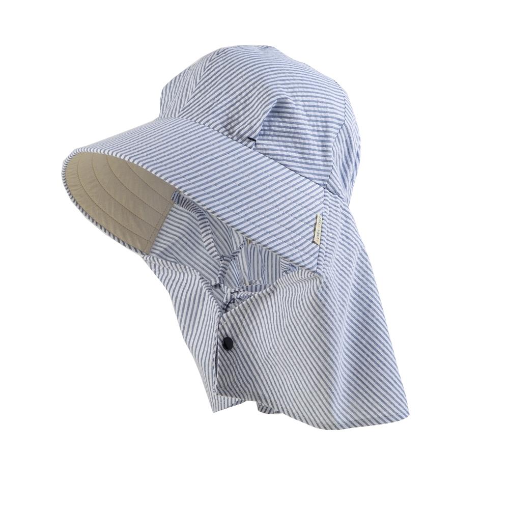 ユニワールド ふわっと涼しい帽 ラメストライプ NS-135