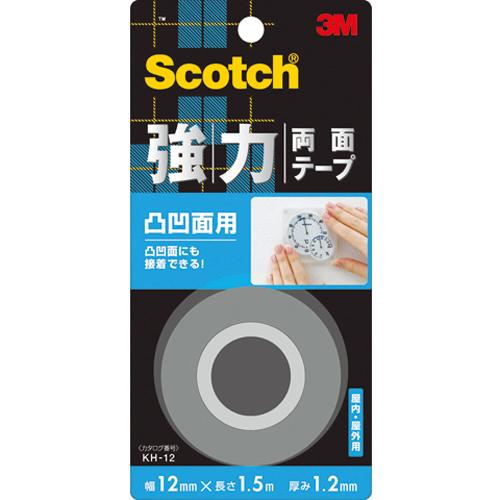 3M スコッチ 強力両面凸凹面用(12mm×1.5m) KH-12