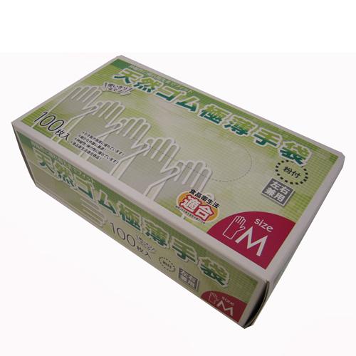 コーナン オリジナル 天然ゴム極薄手袋M 100枚 KW04−4867