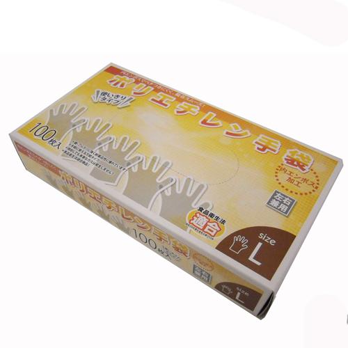 【 めちゃ早便 】コーナン オリジナル ポリエチレン手袋L 100枚 KW04−4904