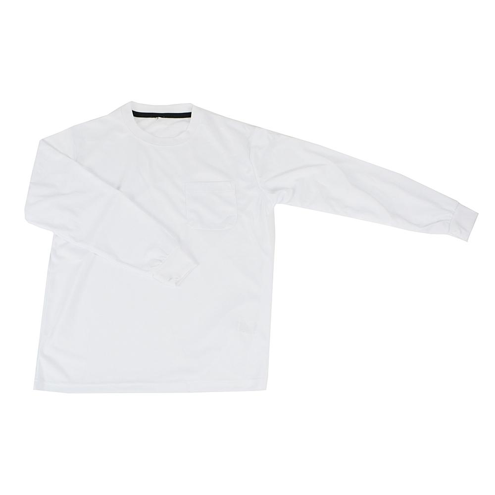 PROACT 吸汗速乾長袖Tシャツ 丸首 FS15−KTN−WH ホワイト M