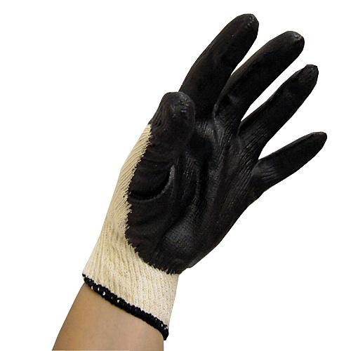 コーナン オリジナル ゴム引き手袋 10双組 ブラック CL680−10P